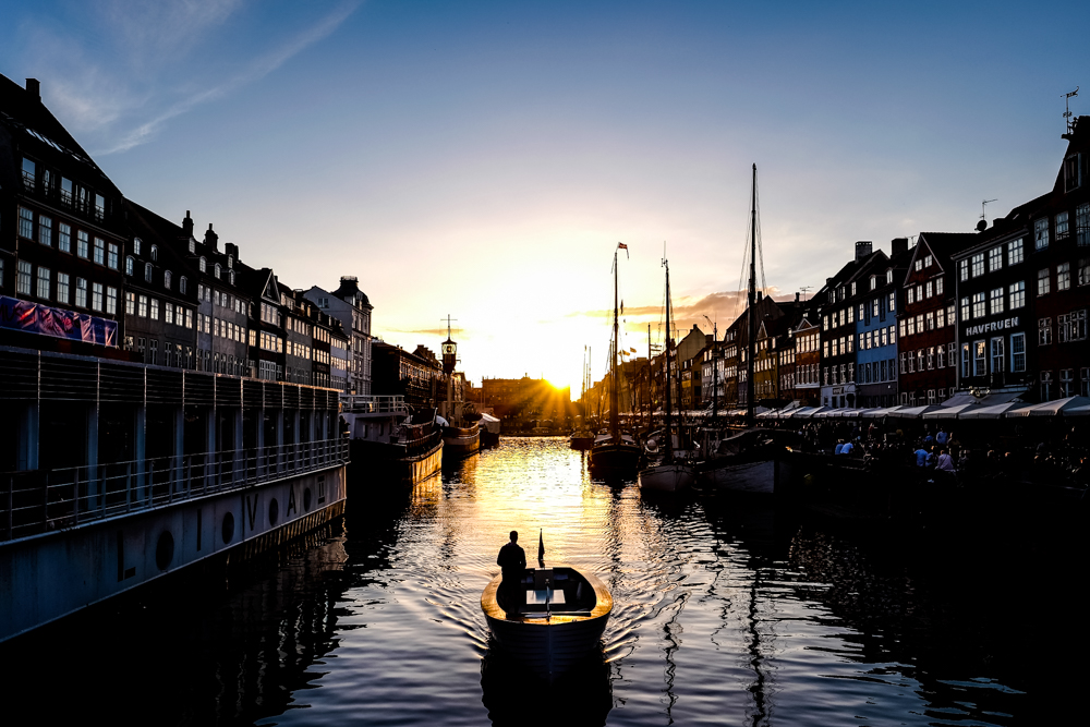 Sunset in Copenhagen, Denmark
