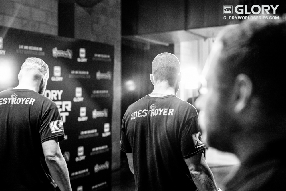 "Warren ""The Destroyer"" Thompson paces backstage before his fight with Manny Mancha."