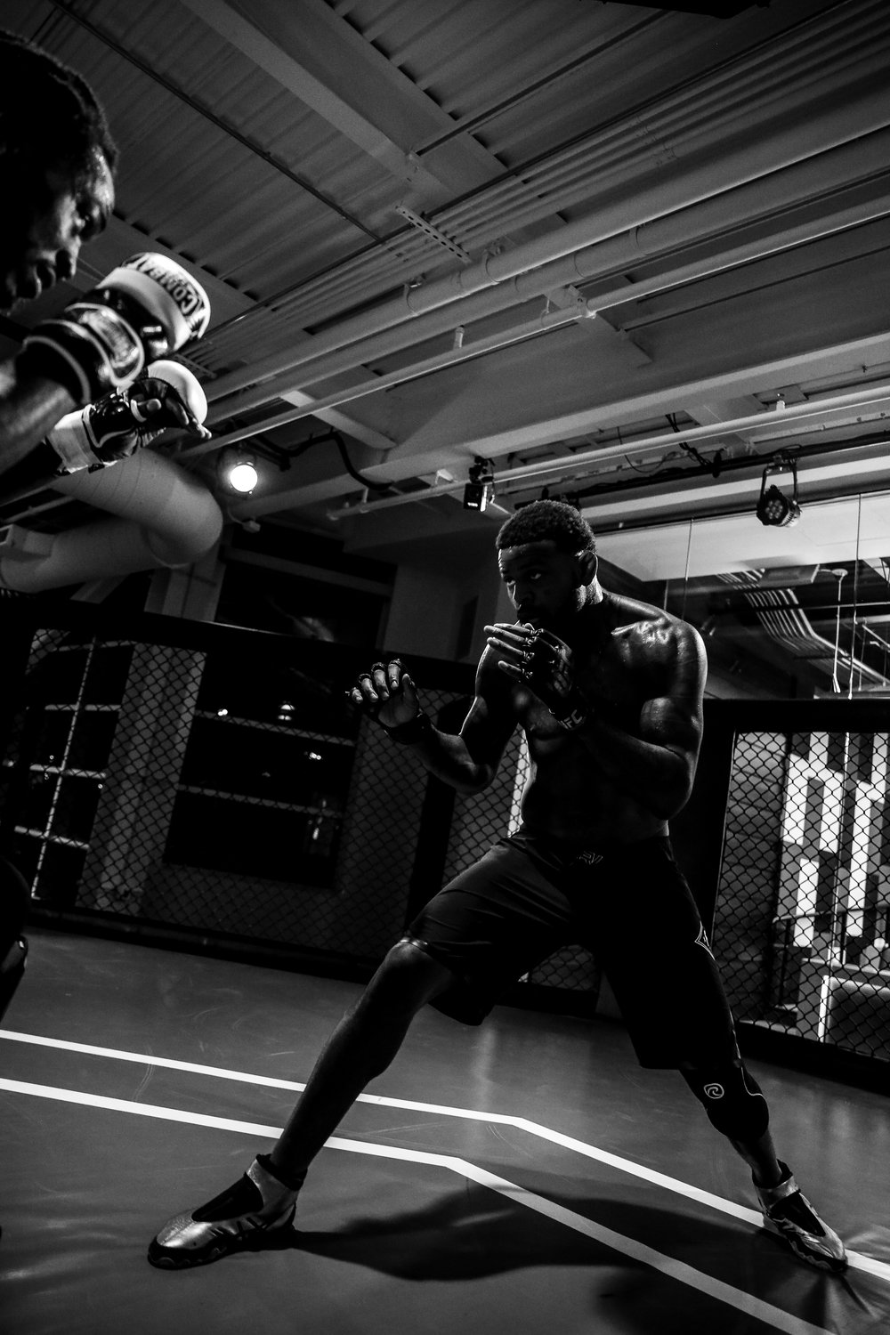 Michael Johnson training at the UFC Performance Institute, just days before his epic FOTY candidate with Justin Gaethje.