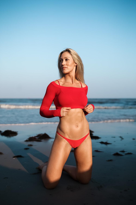 Caroline Pearce on the beach in Atlantic City, NJ.