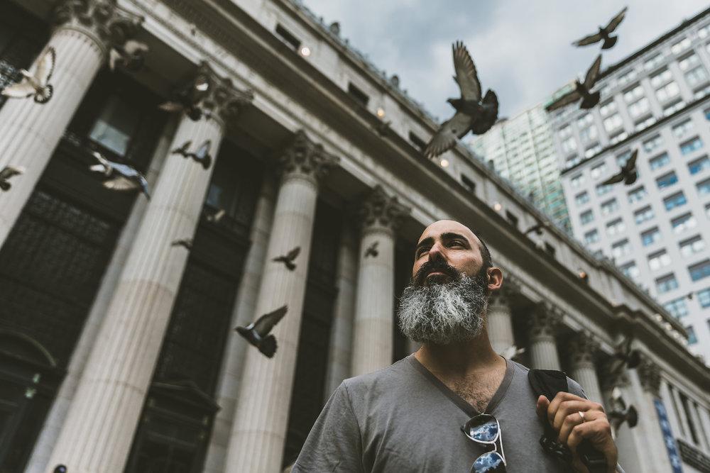 Artist Chris Rini in New York, NY.
