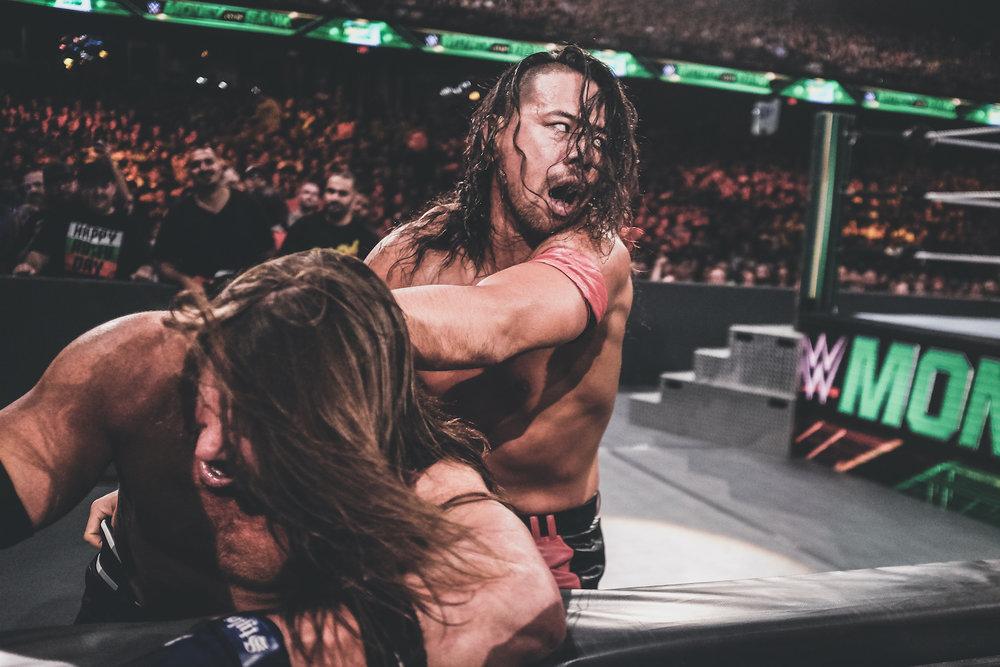 WWE Superstar Shinsuke Nakamura taking on AJ Styles in Chicago, IL.