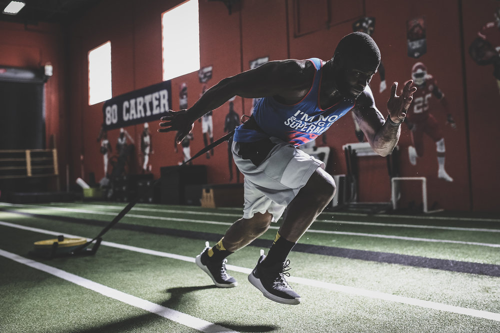 WR Pierre Garcon preparing for the upcoming NFL season at XPE Sports in Boca Raton, FL.