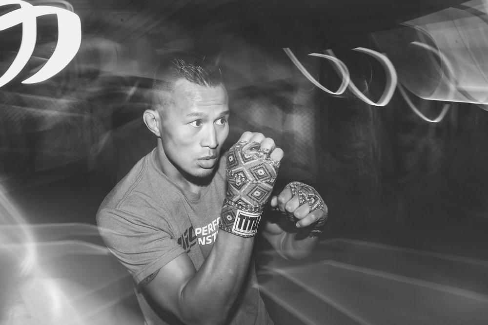 Andre Soukhamthath at the UFC PI. Las Vegas, NV.