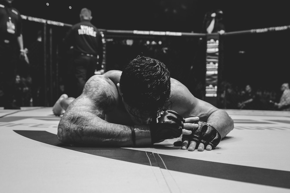 Thiago Tavares emotional after his victory. Long Island, NY.