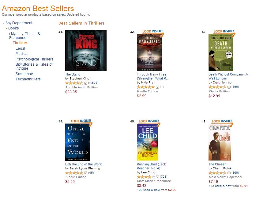 Thrillers Bestseller List