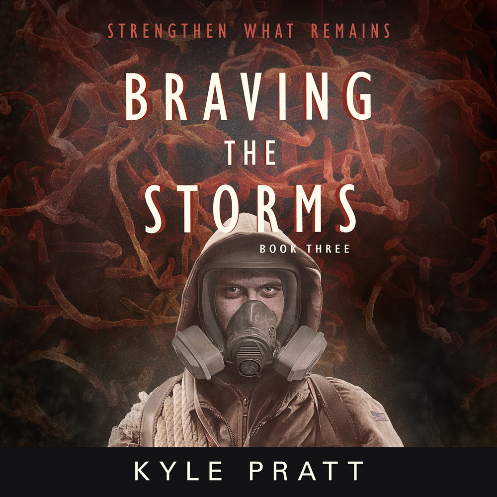 The audiobook cover of Braving the Storms, by Kyle Pratt