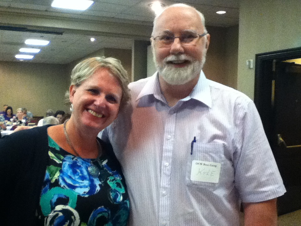 Susan May Warren and Kyle Pratt at the 2015 Oregon Christian Writers summer conference