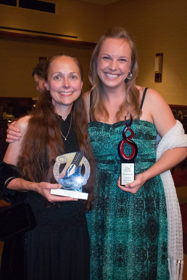 Carol Eaton and Nadine Brandes at the 2015 ACFW Carol Awards.