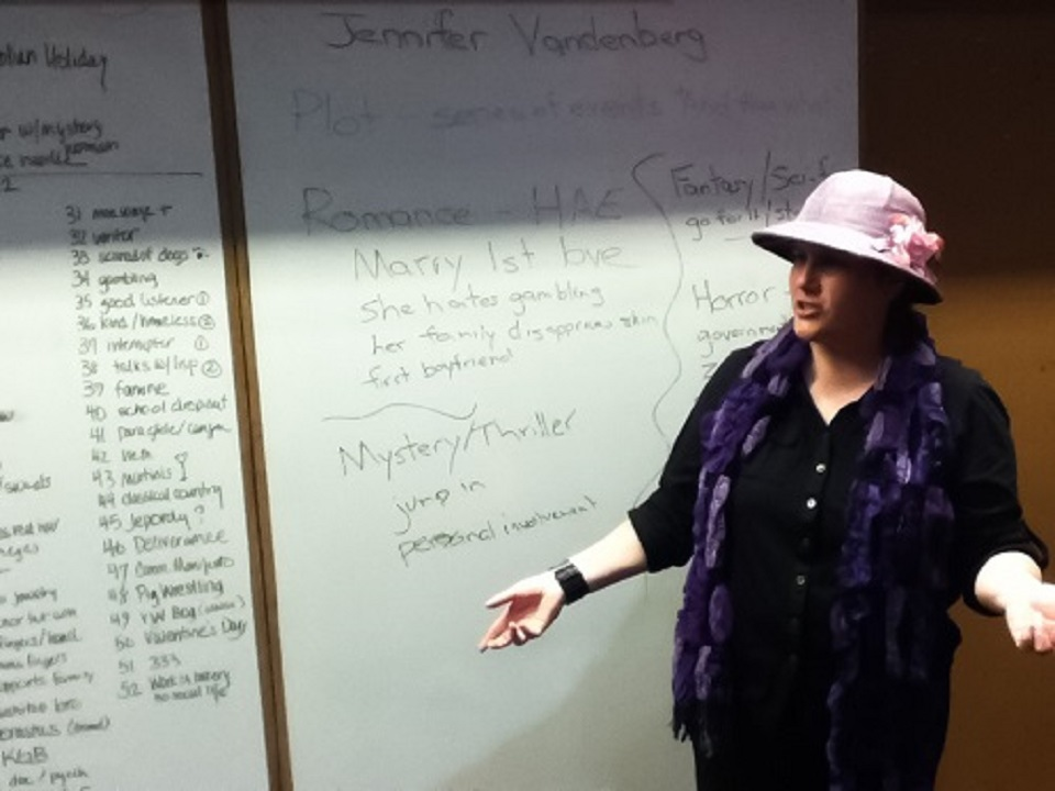 Author Jennifer Vandenberg on character creation