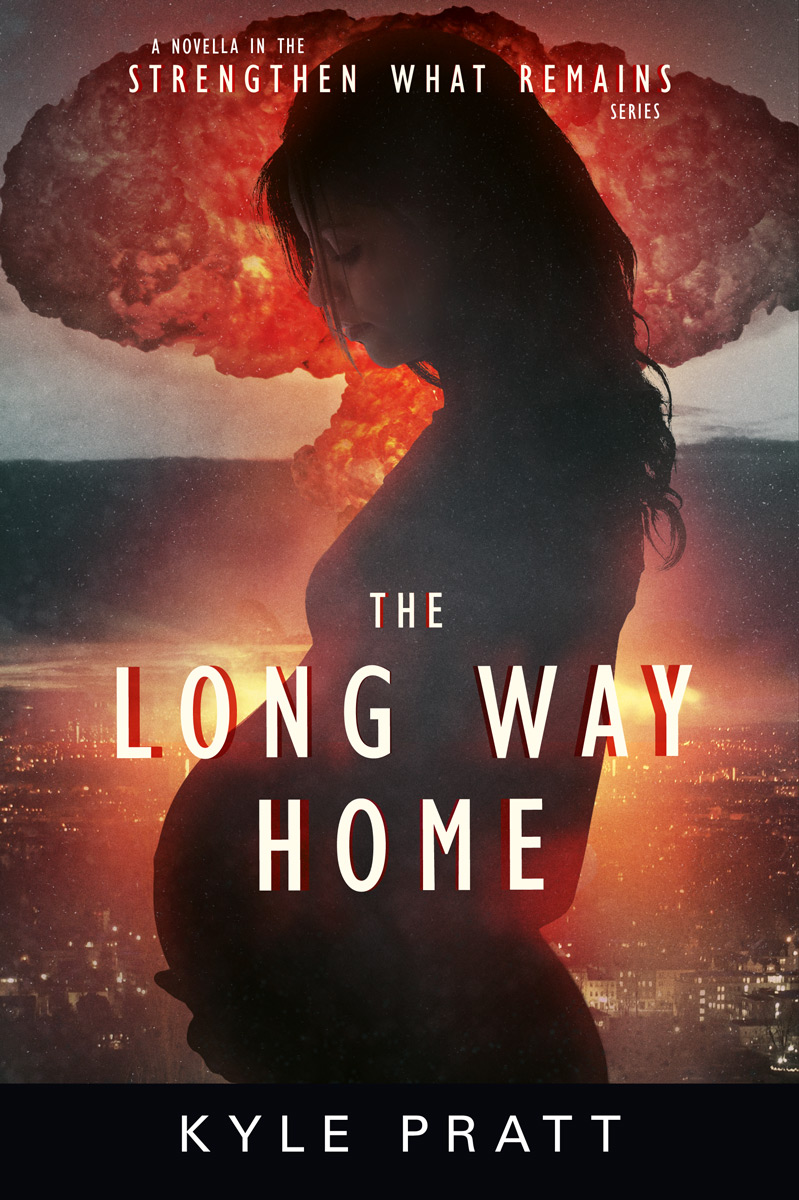 The Long Way Home   Five cities had already been decimated by nuclear terrorism when Trevor Westmore sets out on a mission to bring Sue, his pregnant daughter-in-law, back to the relative safety of the family farm. He also hopes to find his daughter Lisa and bring her home. But, almost immediately upon finding Sue, in the suburbs of Seattle, terrorists detonate another nuclear bomb and the two must flee amid the chaos and fallout.   The Long Way Home  is the story of Trevor's mission to reunite his family.