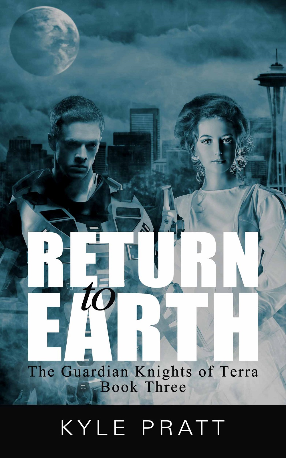 Return to Earth    Book three in the Guardian Knights of Terra series.   As Rachel, Lucas, Katherine, and Magnus flee to Earth, with thousands of desperate seekers, the forces loyal to the new king, Draven, hunt them. The rightful king, Magnus, might be able to save them all with a simple command, but he lingers in a coma near death.  Rachel knows their enemies are closing in for the kill, but what can she do? Even if Rachel and her friends reach Earth, and prove the Mage have lied, they may all die before the people of Europa hear the truth.