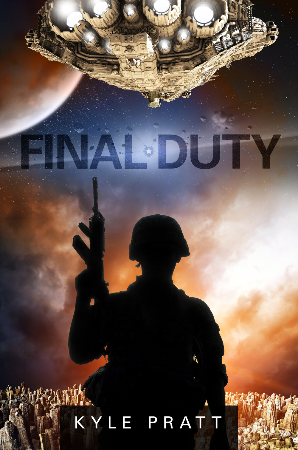 Final Duty   Twenty years after the death of her father during the Battle of Altair, Lieutenant Amy Palmer returns to the system as an officer aboard the reconnaissance ship Mirage. Almost immediately disaster strikes and Amy, along with the crew of the Mirage, must face the possibility of performing their final duties.  Final Duty is a 15,000 word novelette available as an ebook, and as an audiobook with both a male and female narrator.