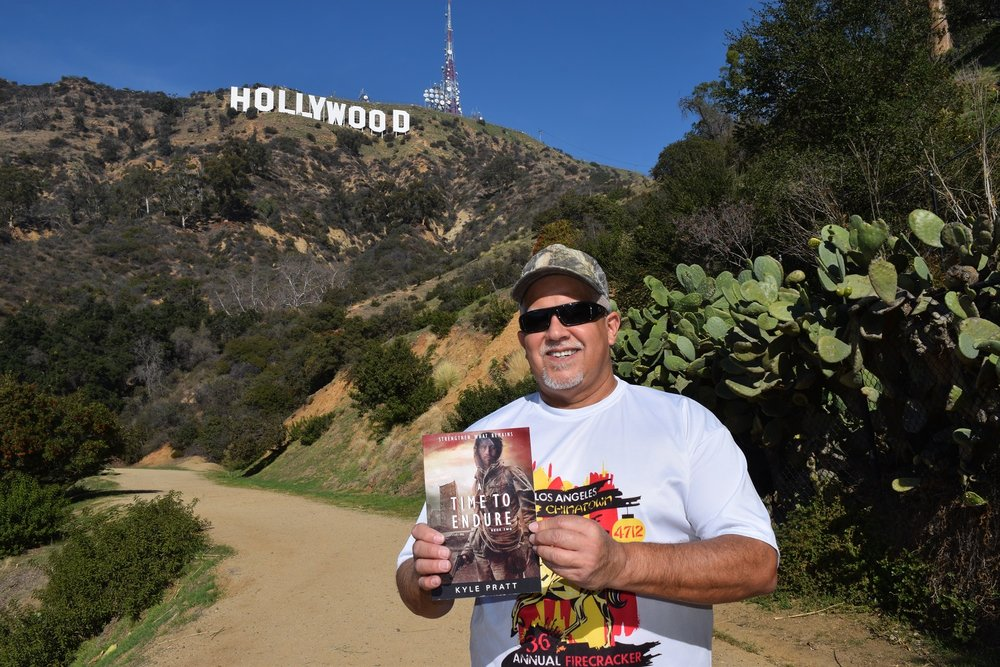 James from Chino, California, with a copy  A Time to Endure .