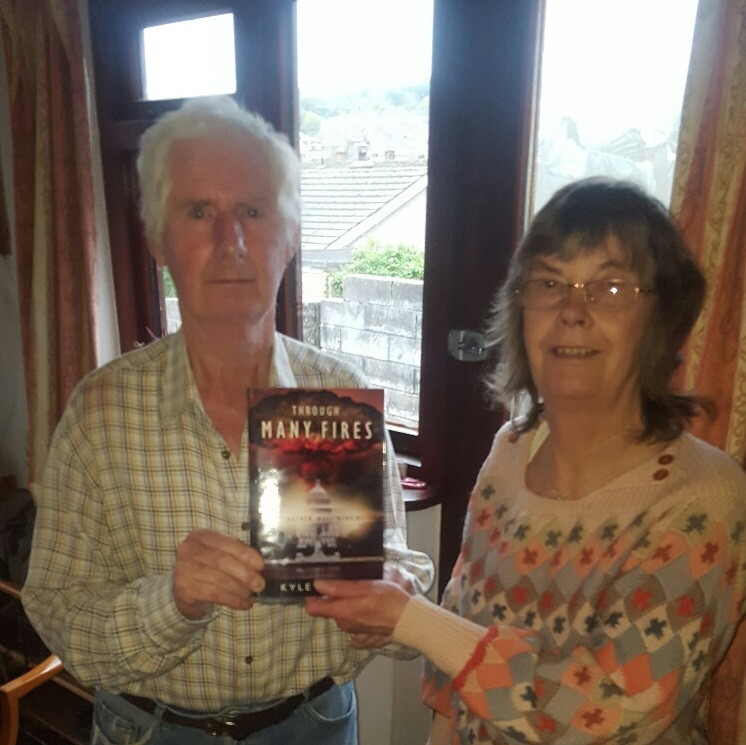 Andrew and Josephine of Barry Glamorgan, Whales, with a copy of  Through Many Fires