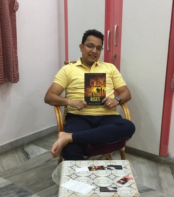 Amit from Kolkata, West Bengal, India with a copy of  The Storm Rises .