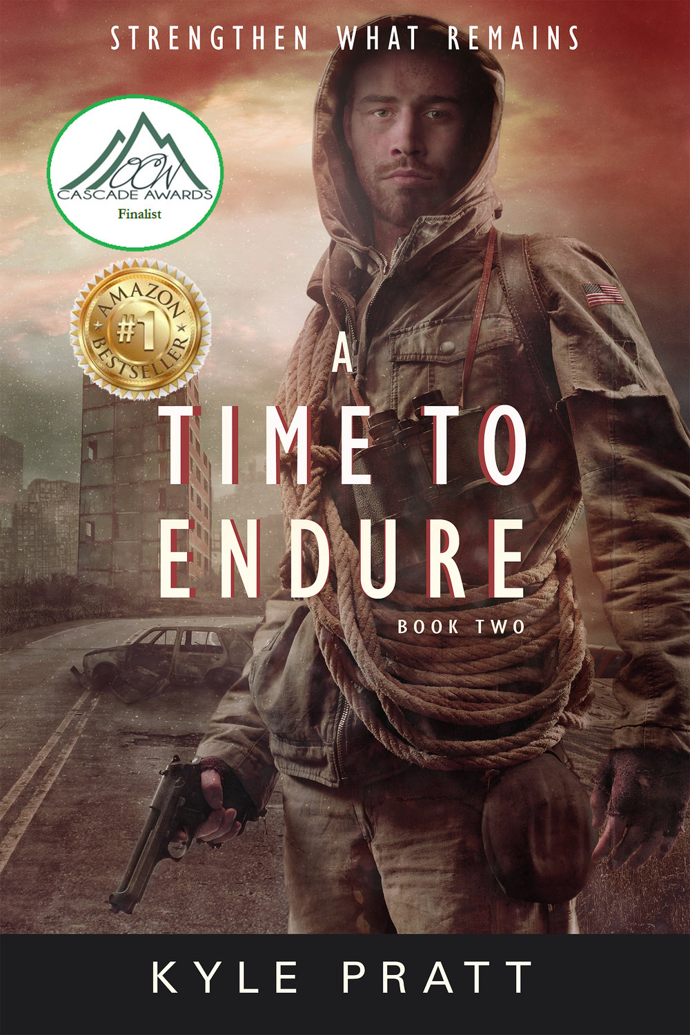 A Time to Endure    The second novel in the Strengthen What Remains series.   The nation's economy teeters on the verge of collapse. The dollar plunges, inflation runs rampant, and the next civil war threatens to decimate the wounded country. In the face of tyranny, panic, and growing hunger, Caden struggles to keep his family and town together. But how can he save his community when the nation is collapsing around it?