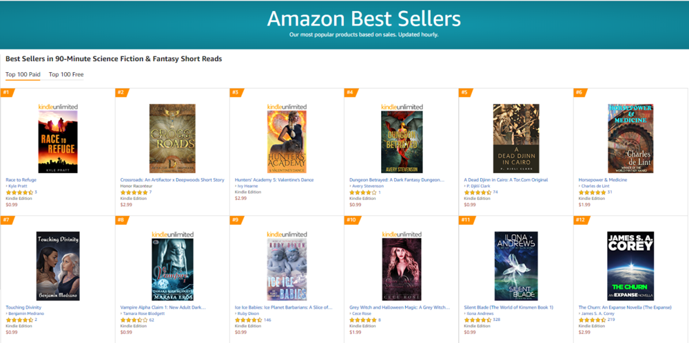 Amazon list of March 16, 2019. Click to enlarge.