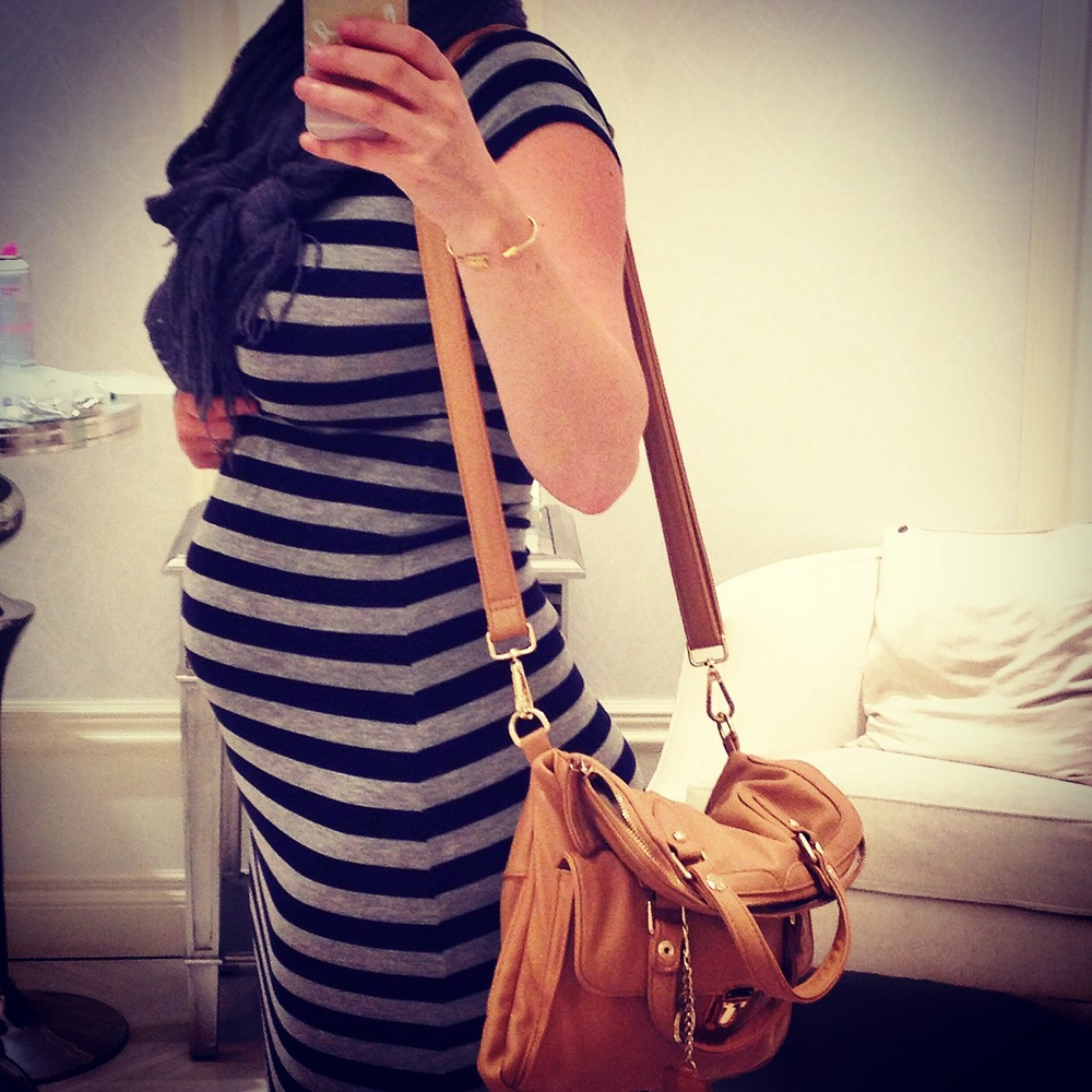 The very first photo I posted on Instagram announcing my pregnancy. Let the #stylebump fashion begin!!