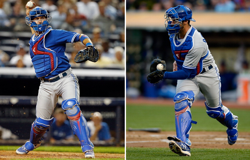 The Mako gear getting some MLB game time on pro player J.P. Arencibia