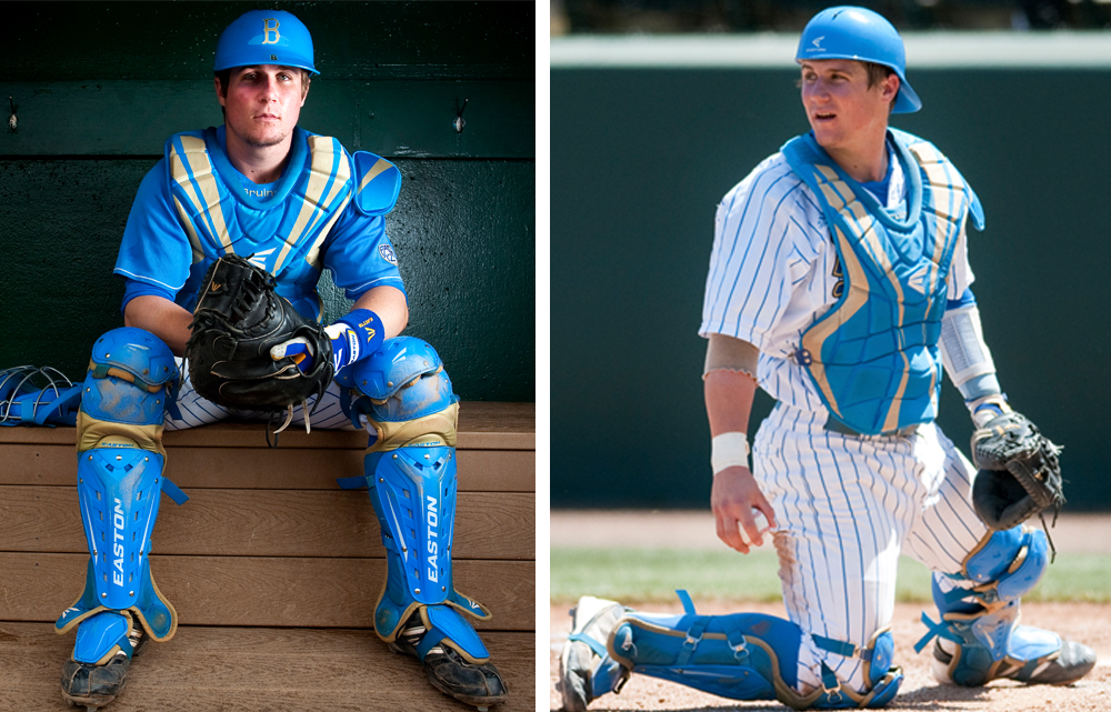 Easton sponsored athletes wearing prior generation Easton equipment