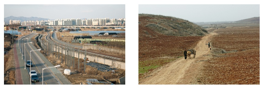 A suburb of Seoul / Fields in the Gangdong district