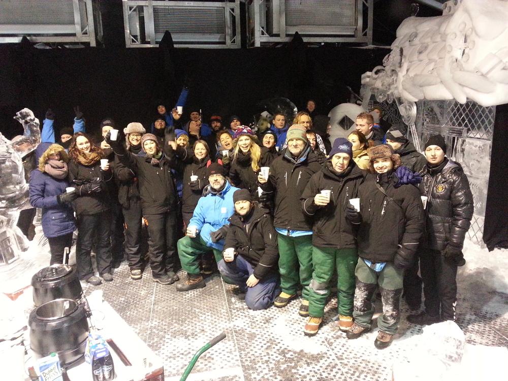 Het ijsbeelden team
