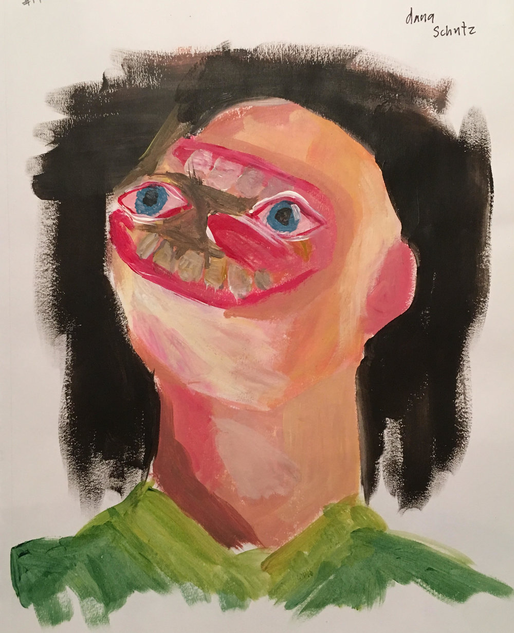 Artist copy (Dana Shutz) Acrylic on paper