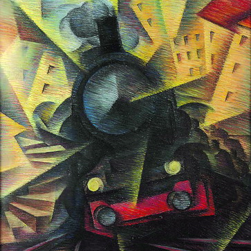 Fig 1.3  | Speeding Train, 1922, Ivo Pannaggi
