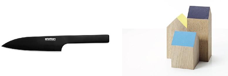 Fig 3.3  | Venstre:  Pure Black Knife  by Stelton, 2011, Holmbäck Nordentoft  Fig 3.4  | Højre:  Arch:you  by Applicata, 2012, Anne Boysen