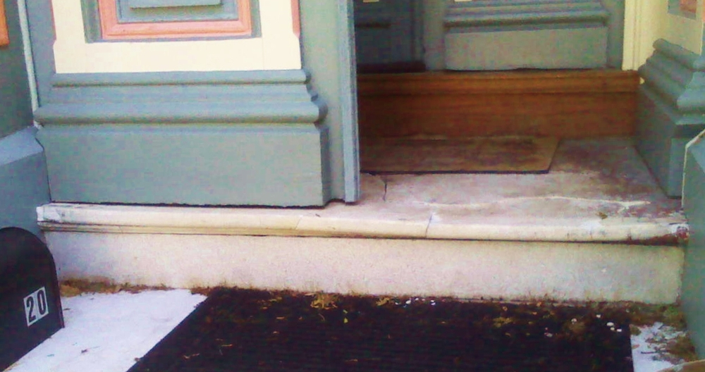 Early to Mid 1800's Marble Porch in Disrepair