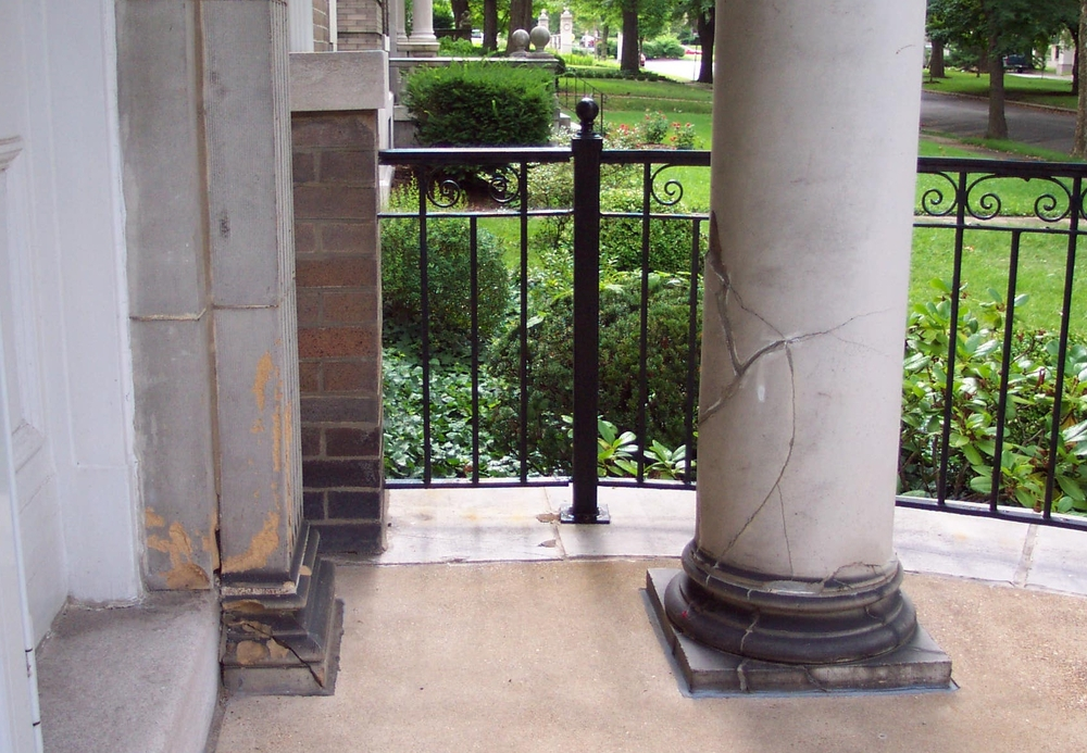 Terracotta Column Restoration - Stone Works - Lee Lindsey