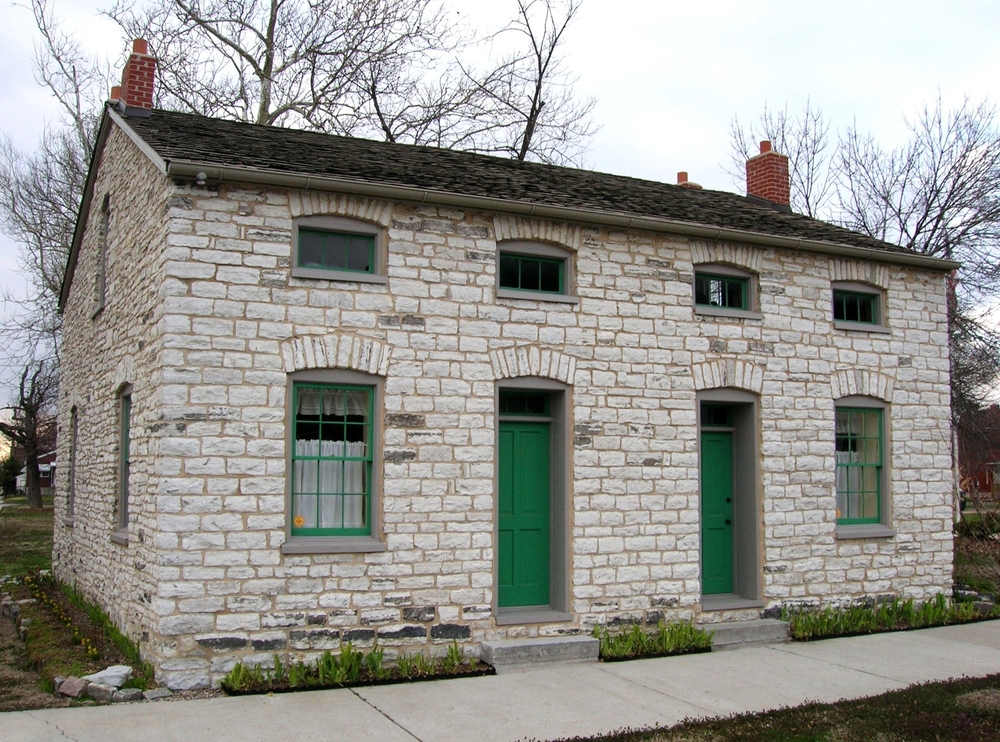 1850's Stone House in South Saint Louis Square Park - Carondelet, MO - Stone Works - Lee Lindsey