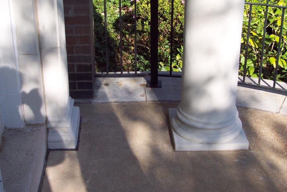 Terracotta column after restoration