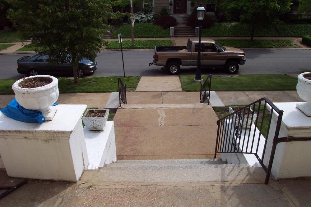 Carthage Limestone Porch Restoration