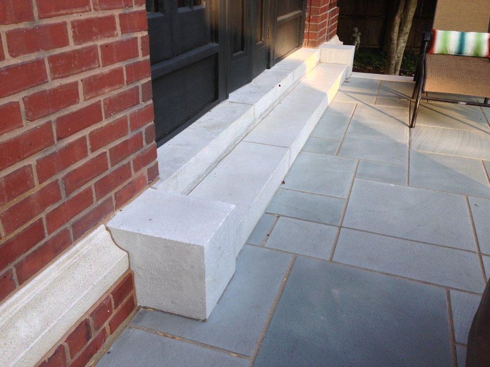Cast Stone Step, Blocks and Molding