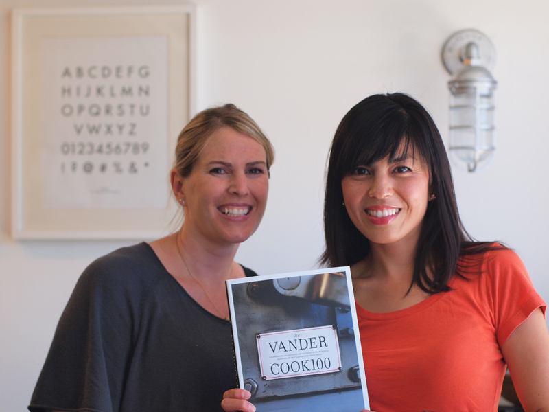 Me with author Heather Mitchell and her book, The Vandercook 100