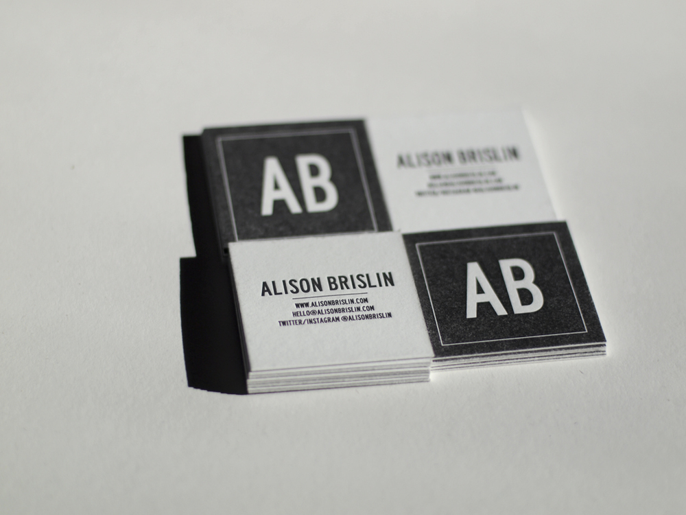 Alison's business cards