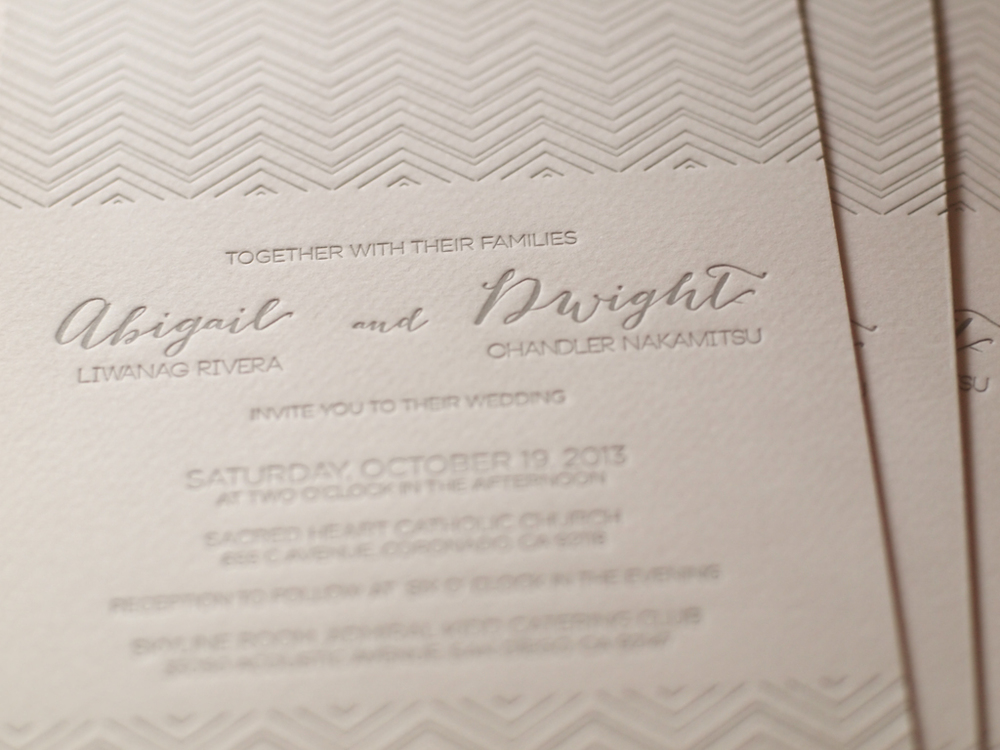 Abigail & Dwight's wedding suite with blush and grey