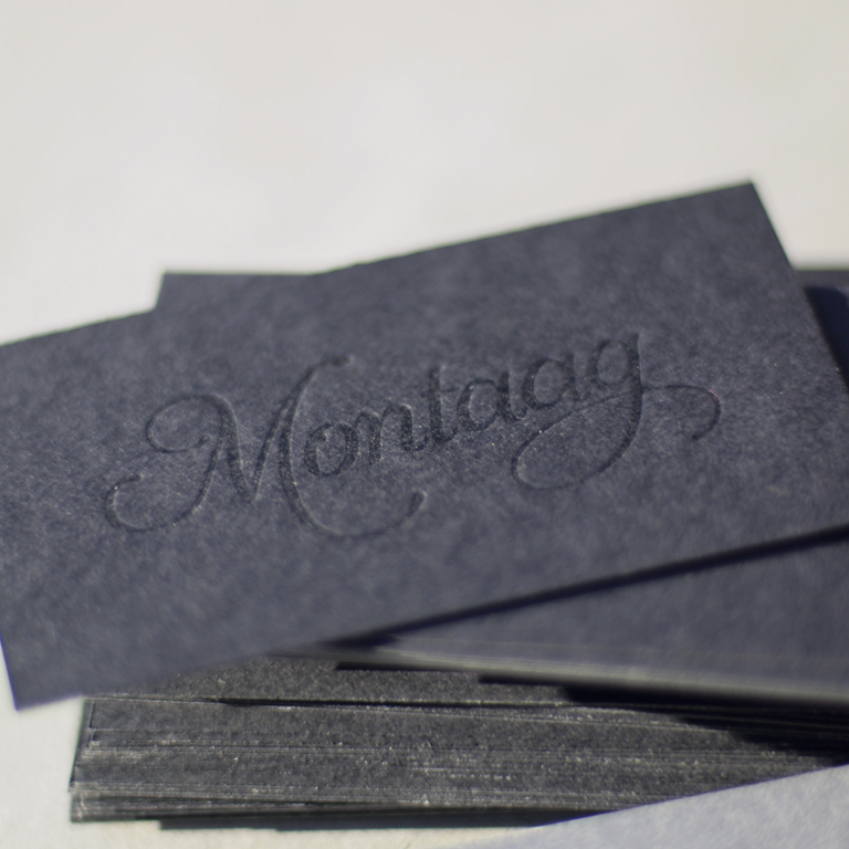 montaag  business cards
