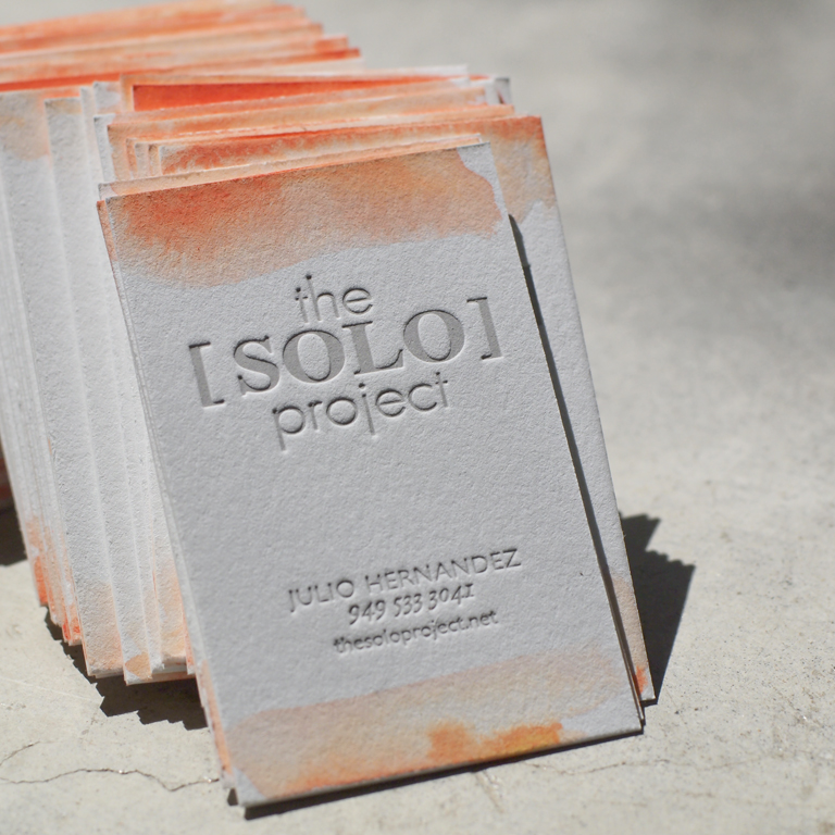 the solo project  business cards