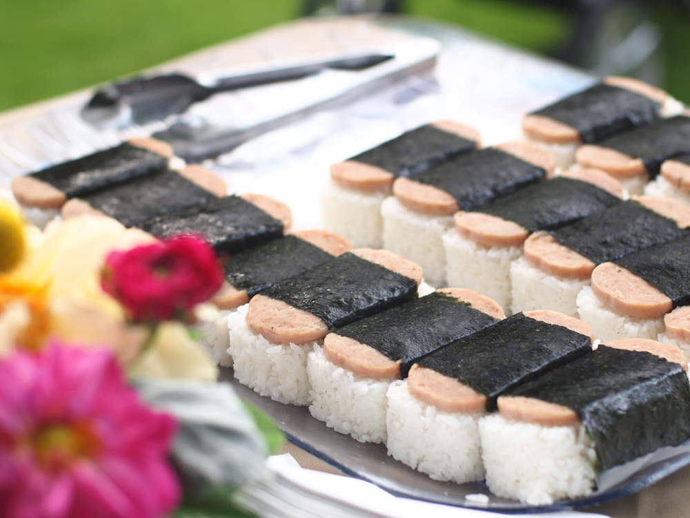 spam musubi snacks for cocktail hour