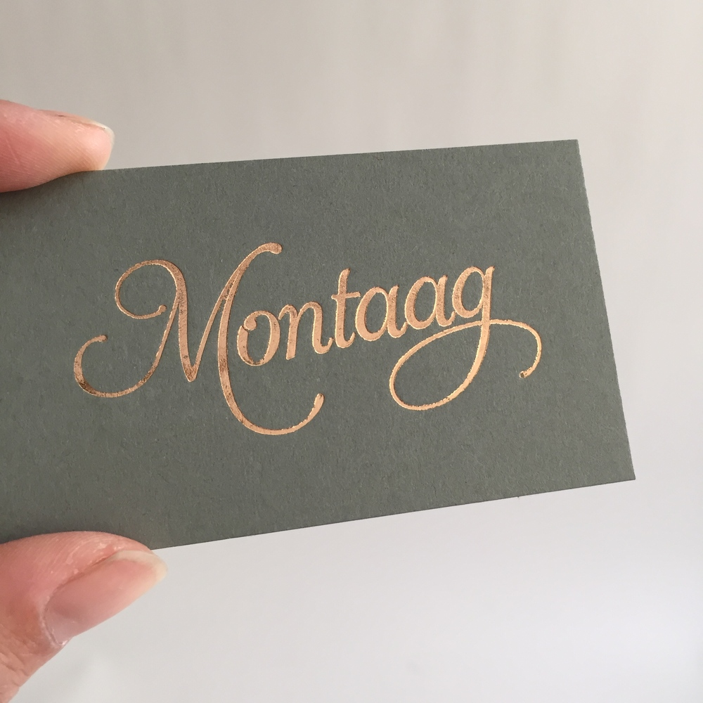 More foil! New update for Montaag, a very talented design studio based in Berkeley.