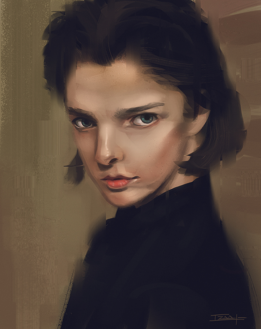 Portrait Practice from Reference Image