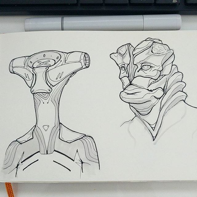 Trying to ditch pencil for ink for awhile. Still getting used to it.