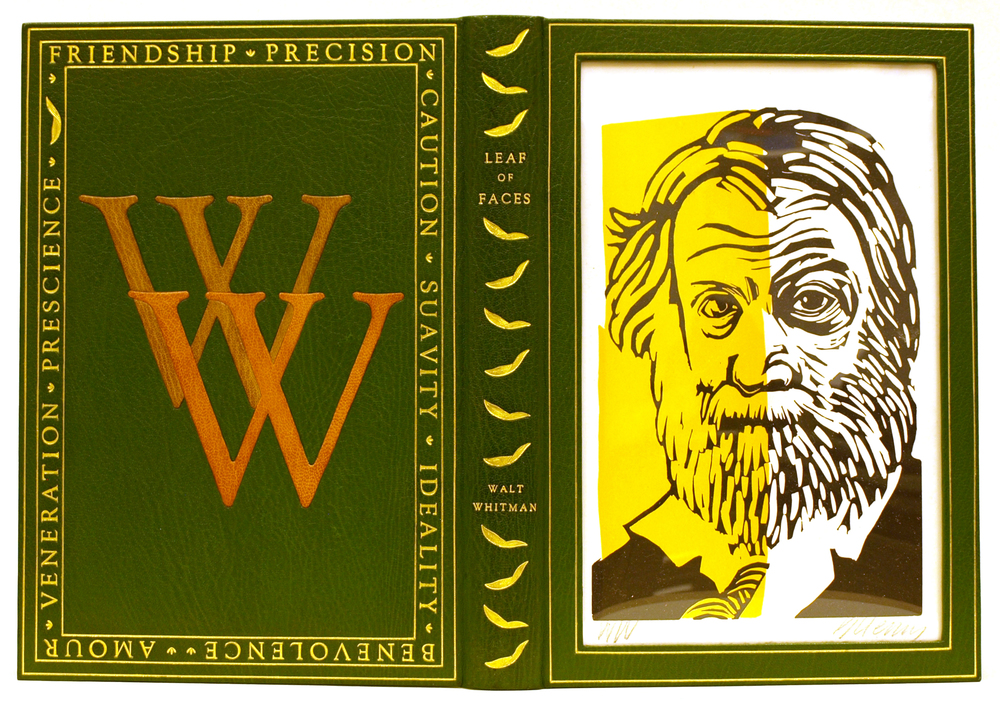 Walt Whitman Leaf of Faces Design Clamshell Box