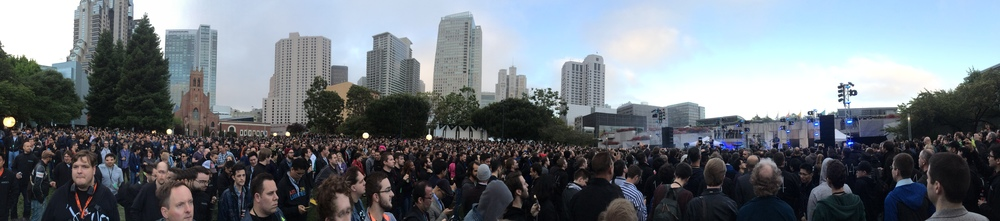 Bastille at the WWDC Beer Bash (K. Sliech, iPHone 5S)