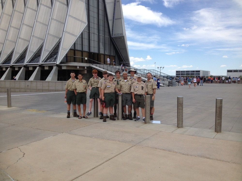 Philmont Crew at Air Force Academy