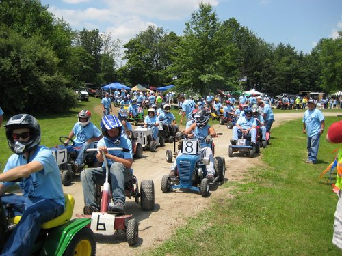 46th Annual Twelve Mile 500 Riding Lawnmower Race