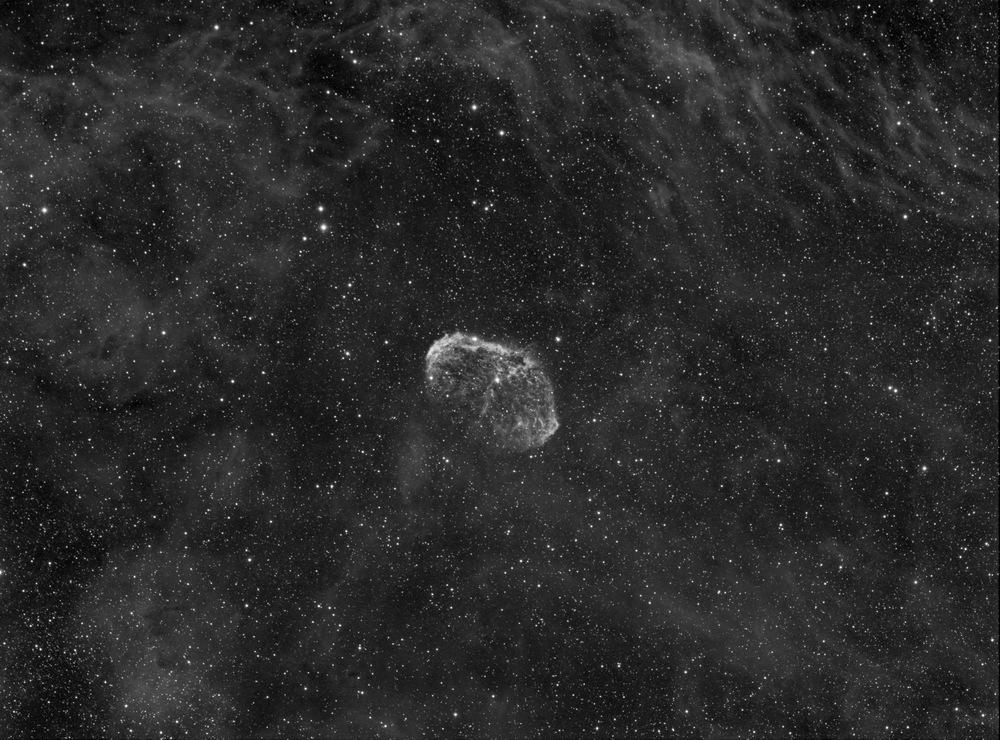 Crescent Nebula HA 500 minutes  Click image to enlarge